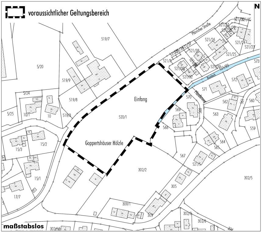 Lageplan Pfärricher Straße