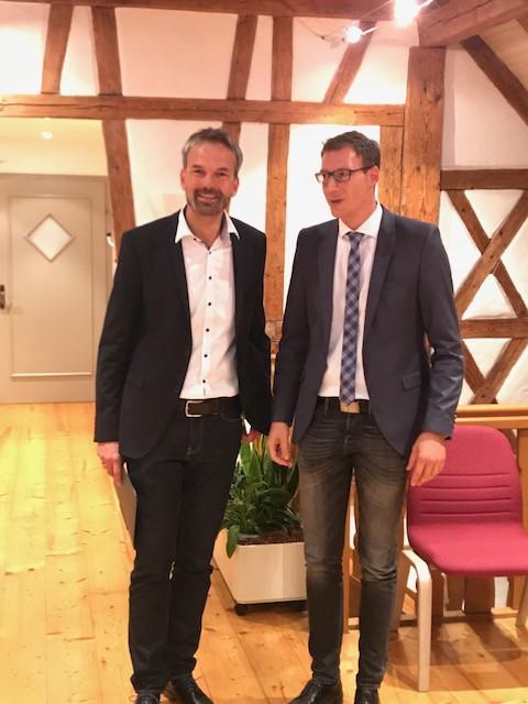 Bügermeister Clemens Moll und Christoph Liebmann