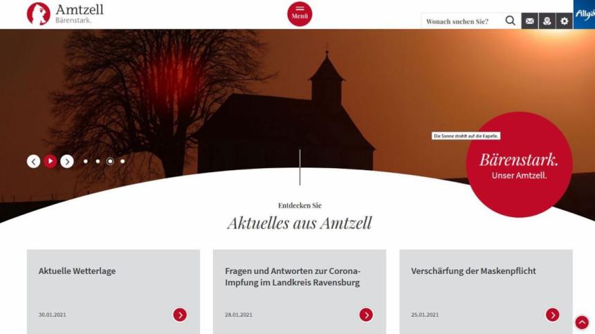 Startseite barrierefreie Homepage