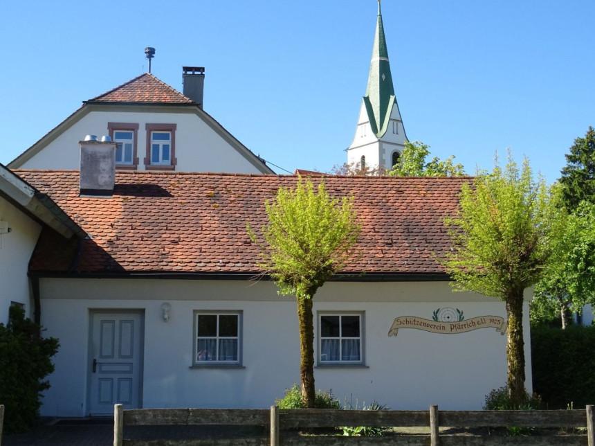 Außenansicht Schützenhauses Pfärrich